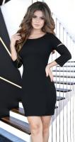 Платье с красивой спинкой , черное