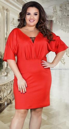 Свободное нарядное платье № 38991,красное
