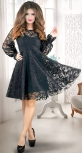 Платье-двойка, изумруд с чёрным