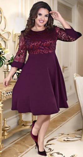 Нарядное расклешённое платье № 39111