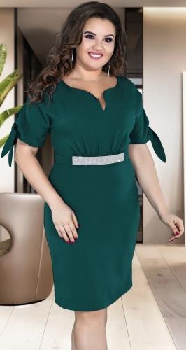 Красивое изумрудное платье № 39131