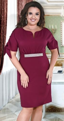 Красивое платье № 39131,марсала