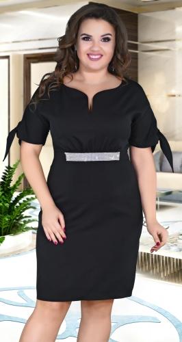 Красивое чёрное платье № 39131