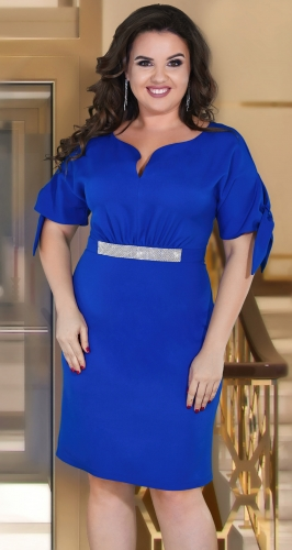 Красивое платье № 39131,ярко синее