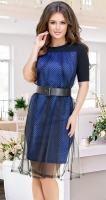 Необычное платье № 3944,ярко синее