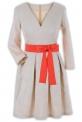Платье № 30162S бежевое