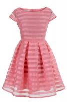 Платье № 3070S коралловое
