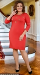 Стильное красное платье  № 3850