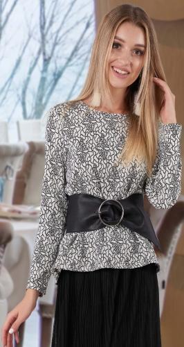 Расклешенная блуза № 4123