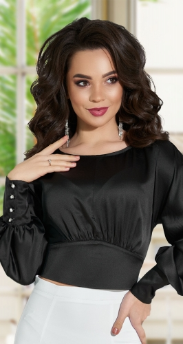 Шелковая блузка № 4245