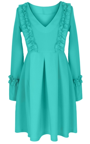 Платье № 3301SN голубое (розница 350 грн.)