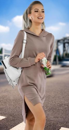 Прогулочное трикотажное платье № 3618