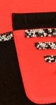 Красно-черный трендовый спортивный костюм