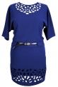 Платье № 3018S синий