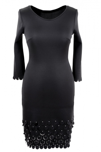 Платье № 1502N черное (розница 466 грн.)