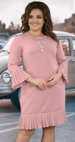 Красивое  платье с кулоном № 38231,пудра