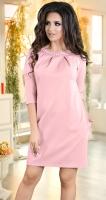 Нарядное платье цвета пудра с жемчугом