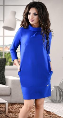 Элегантное  платье цвета электрик