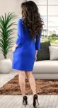 Элегантное офисное платье цвета электрик