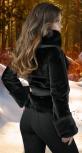 Курточка из эко меха ,чёрная