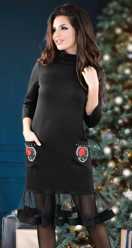 Нарядное черное платье