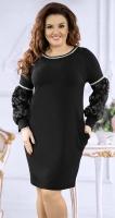Изысканное черное вечернее платье № 38531