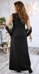 Изящное вечернее платье черного цвета