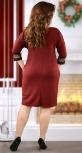 Милое бордовое коктейльное платье