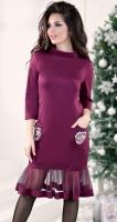 Нарядное платье цвета марсала