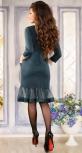 Нарядное платье цвета изумруд
