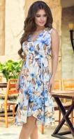 Платье с v-вырезом и оборками № 3933