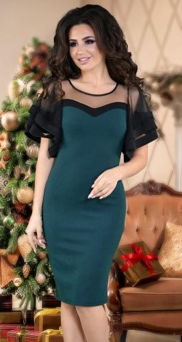 Красивое нарядное платье,изумруд