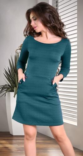 Платье № 3222SN изумрудное (розница 482 грн.)