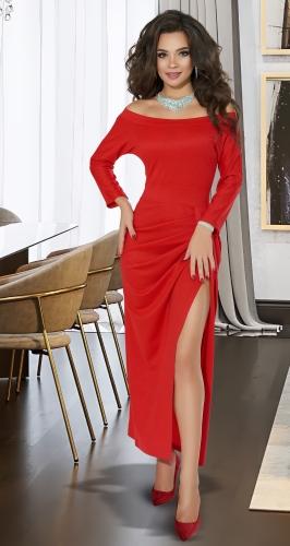 Вечернее красное платье № 3862