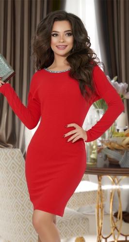 Красное вечернее платье № 17173