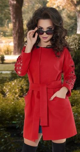 Красное пальто № 3545