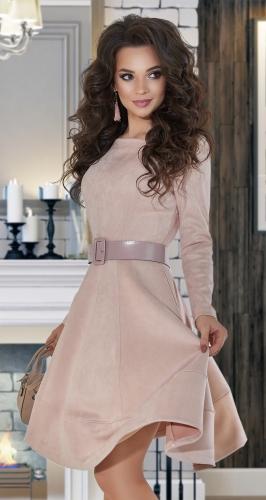 Замшевое платье № 4197