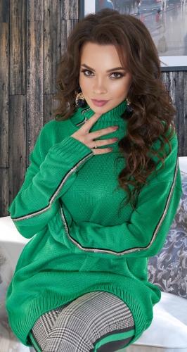 Удлинённый свитер с кристаллами № V90102