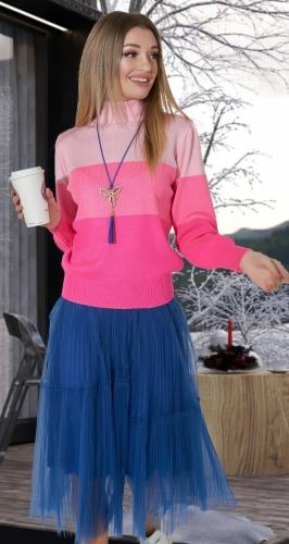 """Яркий свитер """"Розовое сияние"""" № 9014"""
