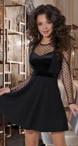 Короткое чёрное платье № 4214