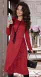 Эффектное платье с пером страуса № 4213