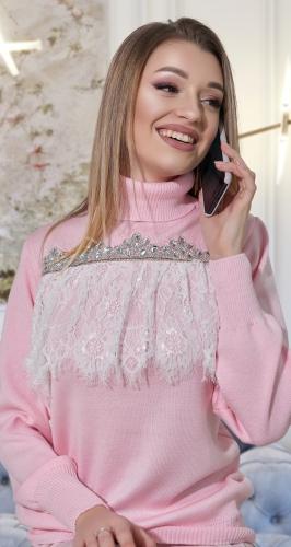 Тёплый и нарядный свитерок № V90093