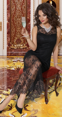 Гипюровое платье в пол № 4039