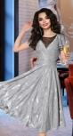 Серебристое вечернее платье № 1824