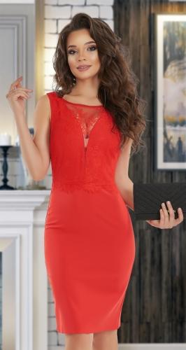 Маленькое красное платье № 4049