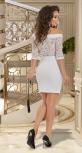 Белое платье мини № 1367
