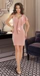 Вечернее платье № 3643 ,пудровое