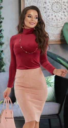 Замшевая юбка МИДИ № 4149