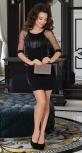 Стильное чёрное платье № 3462