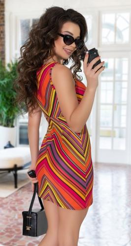 Яркое платье в полоску № 3081